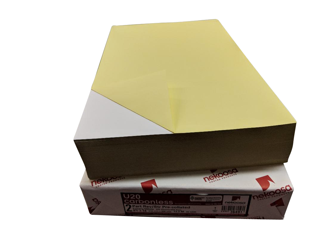 "2,500 Sheets Blank Carbonless Paper-Laser-8.5""x11""-2-part"