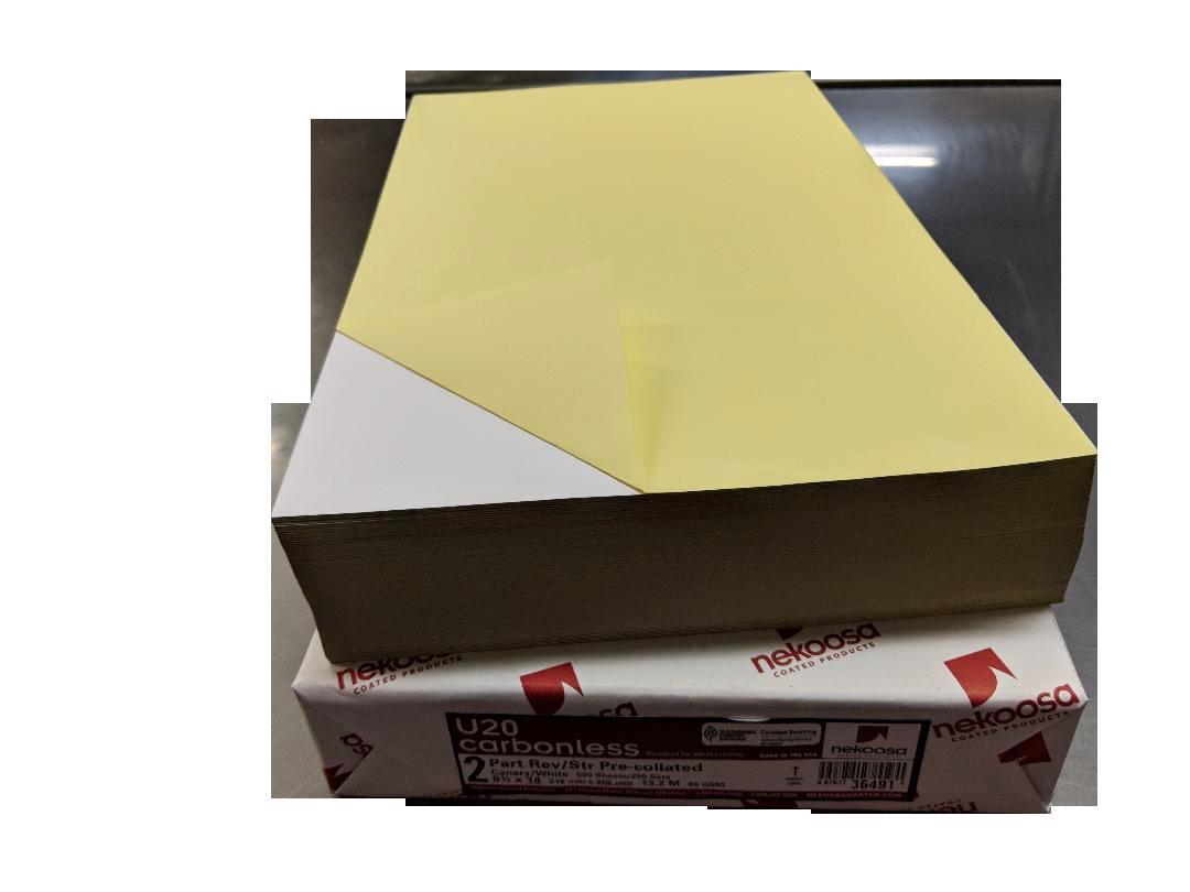 5-000 Sheets Blank Carbonless Paper Regular 8.5x11 2-part-p-105