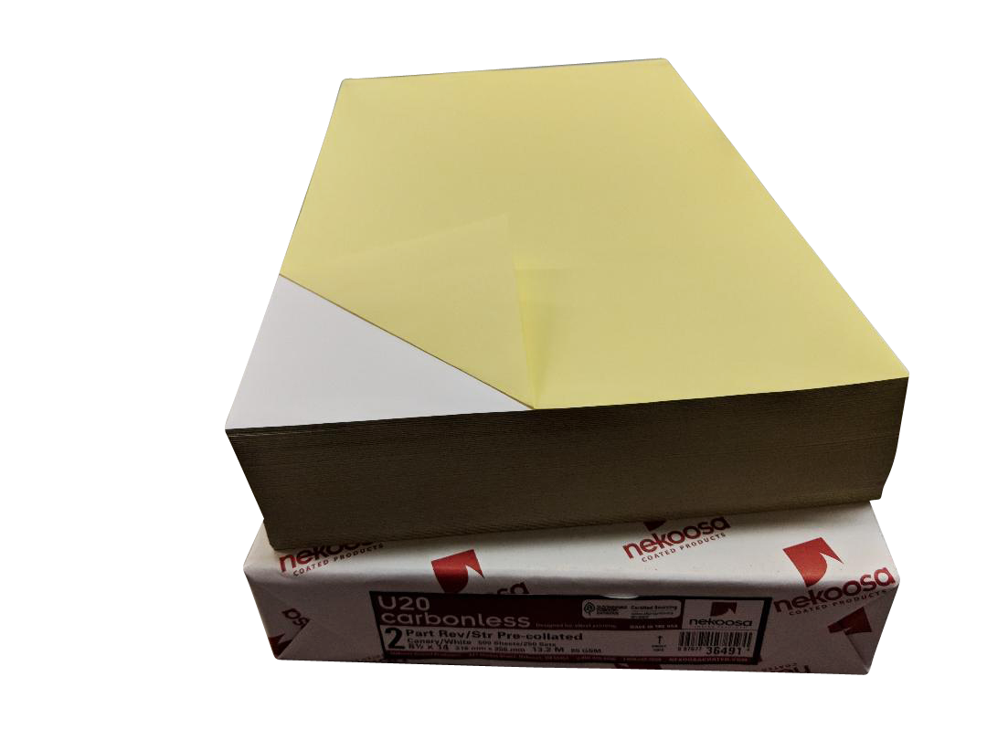 "2,500 Sheets Blank Carbonless Paper-Regular-8.5""x14""-2-part"