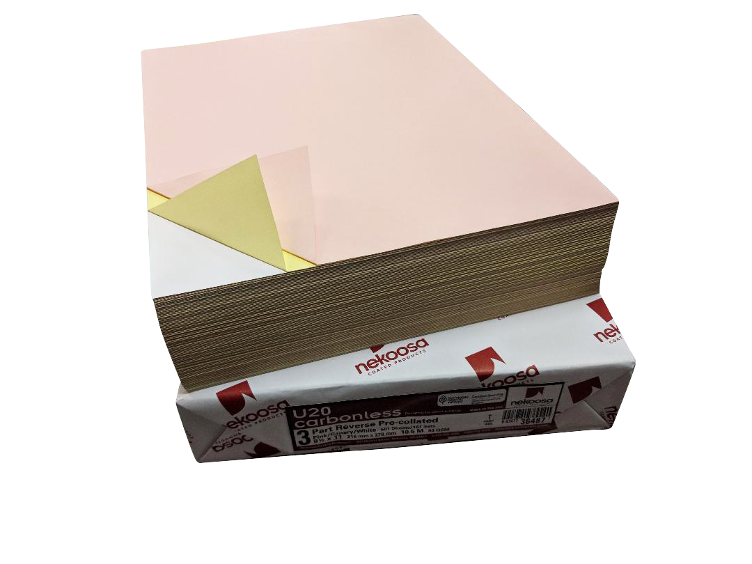 "5,000 Sheets Blank Carbonless Paper-Regular-8.5""x11""-3-part-Reverse"