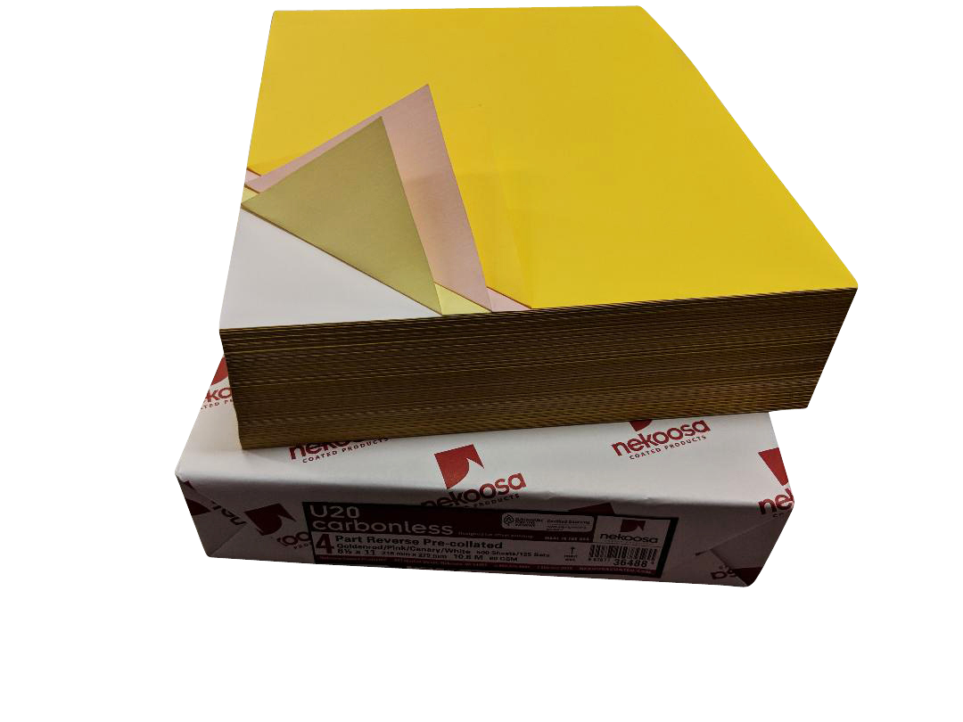 "1,000 Sheets Blank Carbonless Paper-Regular-8.5""x14""-4-part-Reverse"