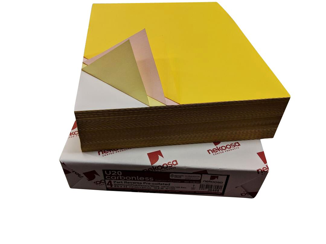"1,000 Sheets Blank Carbonless Paper-Regular-8.5""x11""-4-part-Forward"