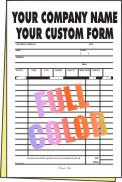 2,500 FULL COLOR Half Page 2-part Forms