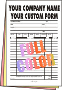 100 FULL COLOR Half Page 3-part Forms