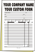 7,500 1/2 page 2-part Forms