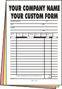 2,500 1/2 page 3-part Forms