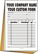 2,500 1/2 page 4-part Forms