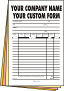 2,500 legal page 4-part Forms