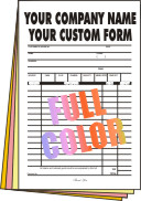 100 FULL COLOR Full Page 4-part Forms