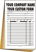 2,500 full page 4-part Forms