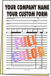 100 FULL COLOR Half Page 2-part Forms