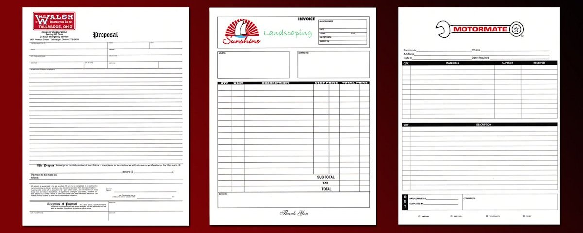 Full Color Carbonless Forms | Full Color Forms