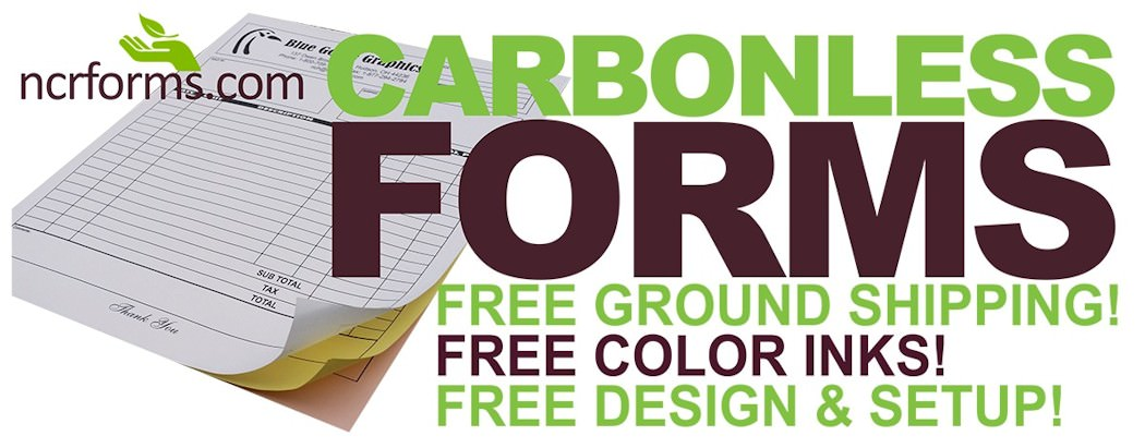 Custom Carbonless Forms Printing NCR Printing NCR Forms - Custom carbon paper invoices