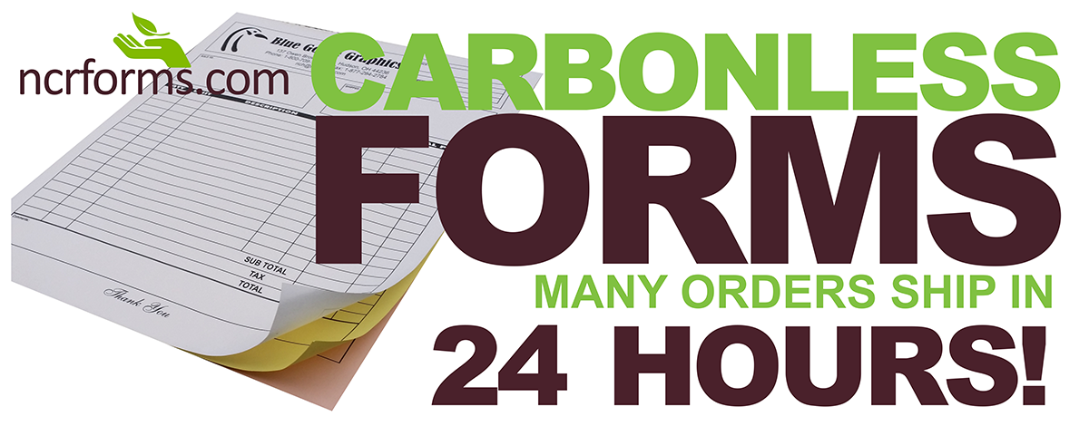 Custom carbonless forms since 1999 with free shipping!