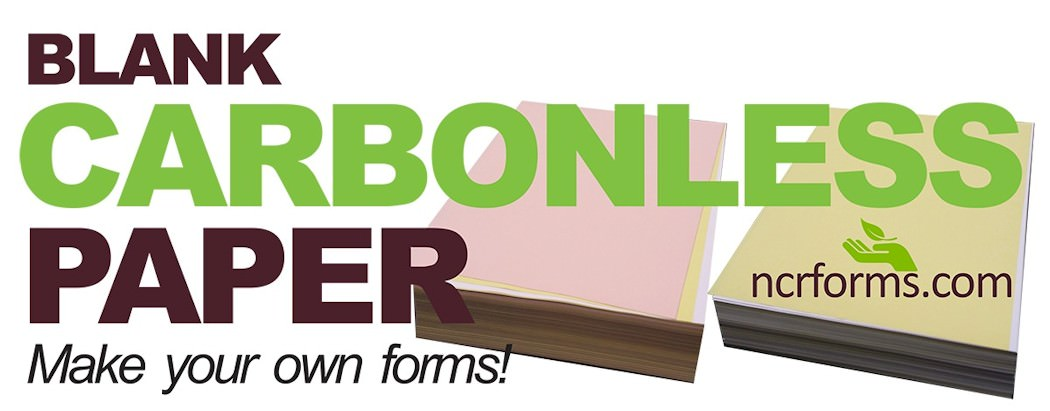 Carbonless forms with free shipping, color inks, and setup!