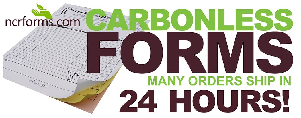 Custom carbonless forms from NCRForms.com with FREE ground shipping!